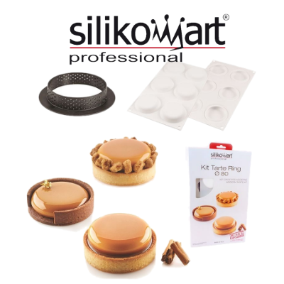 Silikomart kit tarte ring 80